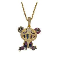 18 carati in oro giallo multi-colore takshi murakami collana pendente panda micro pavimentato zirco wmtkdw dh_seller2010