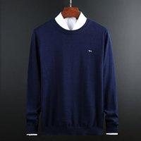 새로운 남성 폴로 오 - 목 스웨터 가을 겨울 긴 소매면 Harmont 자수 블레인 스웨터 스웨터 편물