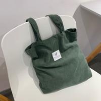 Сумки HBP для женщин 2021 Corduroy Сумка на плечо Многоразовая сумка для покупок Повседневная сумка для женской сумки для определенного количества дропшиппинга