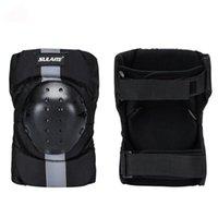 2pcs / set genou manches Pad respirant réglable EVA PE Shell Leg protection Protecteur extérieur Cyclisme Roller Skating