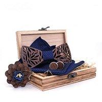DHL или FEDEX 20 шт. / Лот деревянный бабочный галстук для ночного платка набор мужской бабочки полый резной резной резной конструкции и мода новинка галстуки box1