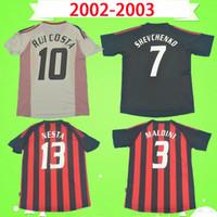 2002 2003 Retro Jersey Jersey Vintage Camisa de Fútbol Inicio Tercero 02 03 Classic AC Maglia da Calcio Maldini Shevchenko Nesta Milán