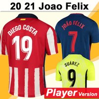 2020 2021 Joao Felix Versão Versão Mens Futebol Jerseys Koke Diego Costa Costa Away 3ª Camisa de Futebol H. Herrera M. Llorente Morata Uniformes
