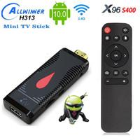 X96 S400 Android 10.0 TV Box Stick 2GB+16GB Allwinner H313 Quad Core 4K 60fps 2.4G Wifi PK X96MAX T95