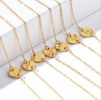 Venta caliente A-Z letra inicial Charm pulsera para mujeres niñas Tamaño ajustable 26 Alfabético Nombre del alfabeto Link Anklet Pulsera Joyería barata