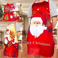 2020 Arte Tela Daidle de navidad Ornamento del regalo colorido de la bola Los delantales Elk decoración delantales de la hornada cocina de la F2 6 5XB