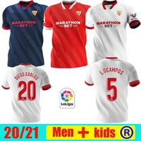 Top Thai 2020 2021 Sevilla Elter Banega Seville FC Футбол Джерси 20 21 Rakitic J.navas Nolito de Jong Футбольная форма Родригез Мужчин Детский комплект