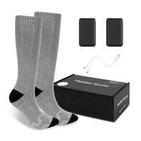 3.7V thermische Baumwolle beheizte Socken Männer Frauen Batteriegehäuse Batteriebetriebene Winter Fußwärmer Elektrische Socken Erwärmung erhitzt