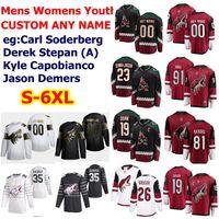 S-6XL All Star Arizona Coyote Hockey Jerseys 18 Christian Dvorak Christian Fischer Niklas Hjalmarsson Ilya Lyubushkin Alex Goligoski Custom