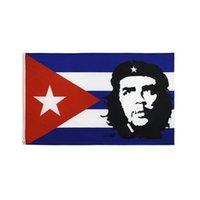 EI CHE Ernesto Guevara mit Kuba-Flagge 3x5 FT 90x150cm Werbe Flag Festival-Party-Geschenk 100D Polyester Indoor Outdoor Printed Heißer Verkauf