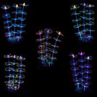 Silikon künstliche Simulation Aquarium fluoreszierende Effekt Korallenfische Tankpflanzen Blumen Ornament Landschaftsdekor Wasser Gras Y200917