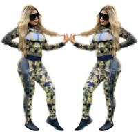 Европейская и американская новая цифровая печатные сексуальные два частя наборы женские трексески топ и карандашные брюки повседневные утсоит