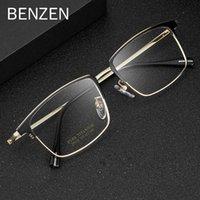 Benzen Titanium Myopia Occhiali da vista Occhiali da uomo Quadrato Ottici Occhiali Occhiali Occhiali da vista Ultralight Eyewear per maschio 5313