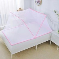 Mosquitera plegable para niños Baby Ropa de cama Cama de la cúpula Algodón de algodón Mosquitera Net Caja de tela de lectura Jugando Decoración del hogar1