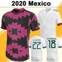 2020 멕시코 chicharito 남성 축구 유니폼 H.Lozano A.Guardado 홈 멀리 골키퍼 축구 셔츠 Lozano R.jimenez H.Herrera 유니폼