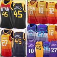 Novo Donovan 45 Mitchell Jersey Rudy 27 Gobert Mike 10 Conley Jersey John 32 Malone 12 Stockton Basketball Jerseys S-XXL