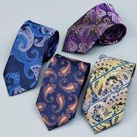 Бантэтги-стяжки мужская галстука бизнес классический кешью печатать на заказ оптом Paisley 8CM платье платье с рисунком POPE набор для человека в коробке