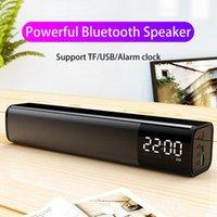 LED Bluetooth Speaker TV Sound Bar Hi-Fi Wireless Speaker Bass Column Alarm Clock Home Theater Surround Subwoofer USB TF PC TV