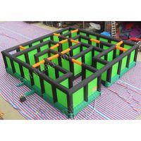 8x8x2 متر العملاق نفخ متاهة علامة للبيع نفخ المتاهة ألعاب نفخ labyrinth لغز المتاهة في الهواء الطلق