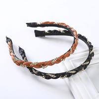 Legierung Ketten Twist Lünette Haar-Band-Haar-Bänder für Frauen Mode-Stirnband Kopfbedeckung New Braid Haarbänder Haarschmuck
