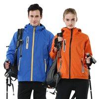 Hommes chauds Femmes Sports Cardigan extérieur Cardigan épaissié bleu marine bleu jaune orange réfléchissant chaud veste étanche étanche étanche m-4xl