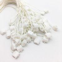 Changtag String Hang Tag String Оптовая 250 шт. Обычно используйте белый качаний Блокировка блокировки пластиковая для одежды