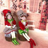 Большой размер эльф пара плюшевые рождественские садовые украшения Navidad Новогодние подарки Детские Дерево Висит украшения Рождественские Детские игрушки LJ201128
