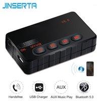 Voiture wifi routeur jinserta sans fil mains libres bluetooth 5.0 adaptateur émetteur de récepteur pour le lecteur audio MP3 Support de la musique Aux USB1