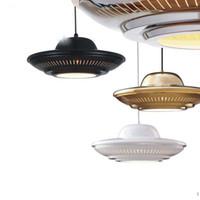 Современная минималистская мода светодиодная люстра освещение Gold Creative UFO ресторан ходить по магазинам подвесные светильники Mall бар кованые подвесные светильники