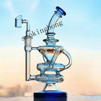 8,4 inch Glas Water Bongs Klein Recycler Oliereilingen Rookglas Olie Burner Pijp DAB Unieke Bong Quartz Banger Waterfles
