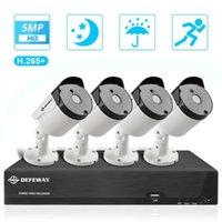 DEFEWAY 4CH HD 5.0MP H.265 + Surveillance vidéo Kit DVR Kit de sécurité de CCTV en plein air Système de caméra 4PCS Night Vision Night Cameras1