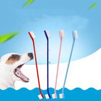 الحيوانات الأليفة لوازم الكلب فرشاة الأسنان القط جرو الأسنان الاستمالة فرشاة الأسنان الكلب الأسنان اللوازم الصحية الكلاب الأسنان غسل أدوات التنظيف WY1039