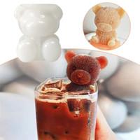 3D-Eiswürfelbereiter Little Bear DogShape Schokolade-Form-Behälter Eis DIY Werkzeug Whisky, Wein, Cocktail-Eis-Würfel-Silikon-Form