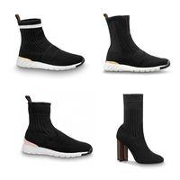 مصمم الشتاء الأحذية النساء الجوارب الدافئة الأحذية الكاحل تمتد أحذية عالية الكعب خيال الكاحل التمهيد أحذية الشتاء مع مربع