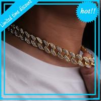 Hip Hop Bling Moda Correntes de Jóias Mens Gold Silver Miami Cubana Link Chain Diamante Gelado Colares Chian