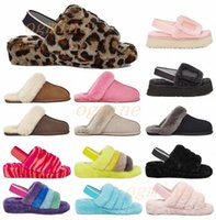 high quality australian boots kids women designer slipper furry slipper fluff yeah slides pantoufles fur luxury sandals