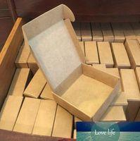 100pcs Kraft papel caixa de presente embalagem personalizada caixa de papelão caixa artesanal pacotes de doces sabão jóias caixa de papel pequena