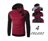 Hombre Casual con capucha Fleece Sports Fashion Color Sets Hombre inclinado Zipper Fleece Hoodie de invierno para hombres
