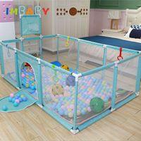 Imbaby Playpen for Baby Pool مع كرات أطفال تلعب حديقة الأطفال منازل البلاستيك الطفل ملعب داخلي كرة السلة المجال LJ200819