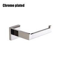 Bref de papier toilette carré et chromé noir et chrome accessoires de salle de bain accessoires en acier inoxydable rack rouleau en papier 2 styles choix yyb4865
