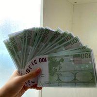 فيلم الدعامة ورقة شريط وهمية اليورو لعبة -124 نسخ المال لعبة الكبار المرحلة الخاصة الأطفال العملة ikcih