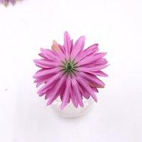 10 unids / lote 7 cm seda crisantemo flores artificiales cabeza bricolaje guirnalda caja de regalo artesanal flores falsas para boda casa fiesta de bbywxw