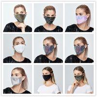 Maske Pailletten Cotton Mode Abenddämmerung Reusability Gewaschene Masken Erwachsene Dame Summer verhindern, dass Staub Baumwolle Maske WY777Y