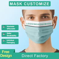 2021 Stati Uniti stock personalizzato Logo Maschere Face Designer Fashion Designer Adulti Anti polvere antipolvere Antivento Maschera Partito Lavabile Riutilizzabile Comfort Unisex Maschera