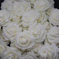 Fiori decorativi Corone 10pcs-100pcs Avorio PE Foam Rose Flower Head artificiale per la festa di nozze domestica Decorazione fai da te