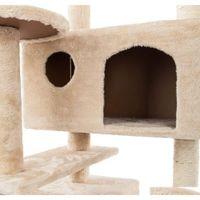 Cat Деревья и башни Prime для больших кошек 52 дюймов Мебель котенка Активный башня с царапинкой k Qyloqx Sports2010
