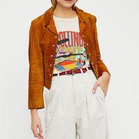 JASTIE VINTAGE CHIC PRINT TEE TEE T-shirt à manches courtes O-COU 2020 Summer Wompe Shirt Top Casual Blusa Vêtements femme Y200722