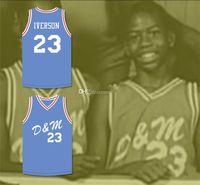 NCAA ALLEN IVERSON # 23 AAU US JERIOR OLYMPICS Ретро Баскетбол Джерси Мужская сшитая на заказ Любое имя Имя