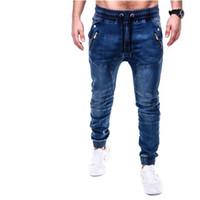 New Mens Stretch-Fit Jeans Business Casual klassische Art Mode Denim-Hose männliche Tasche Reißverschluss Bleistift-Jeans Männer