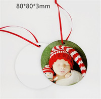Sublimation Christmas Ornaments MDF Blank Round Square Snow ...